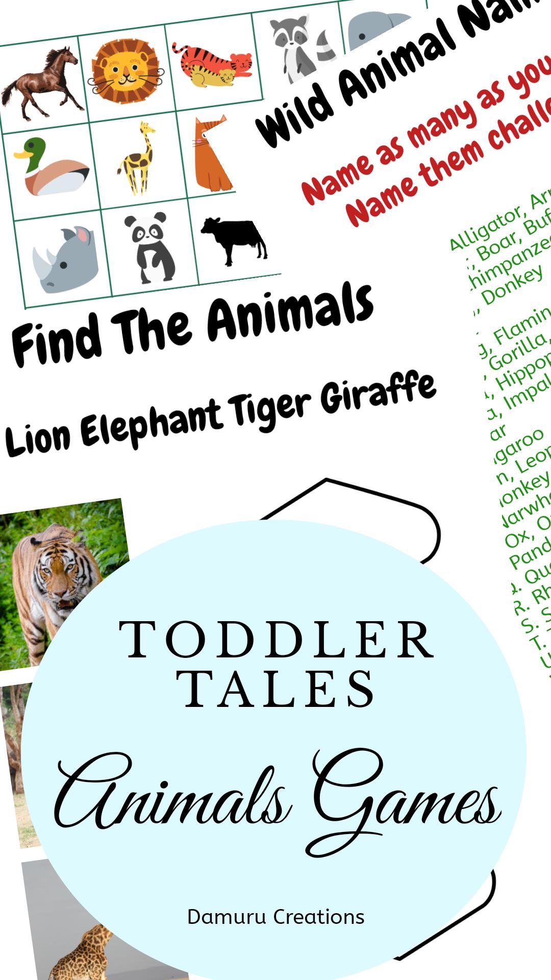 Preschool Learning Animals