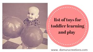 Toddler toys list