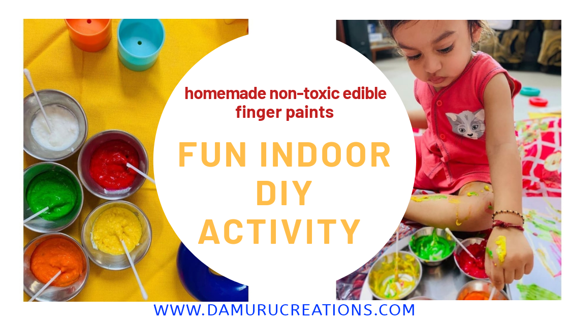 How to make non-toxic edible finger paints for toddlers