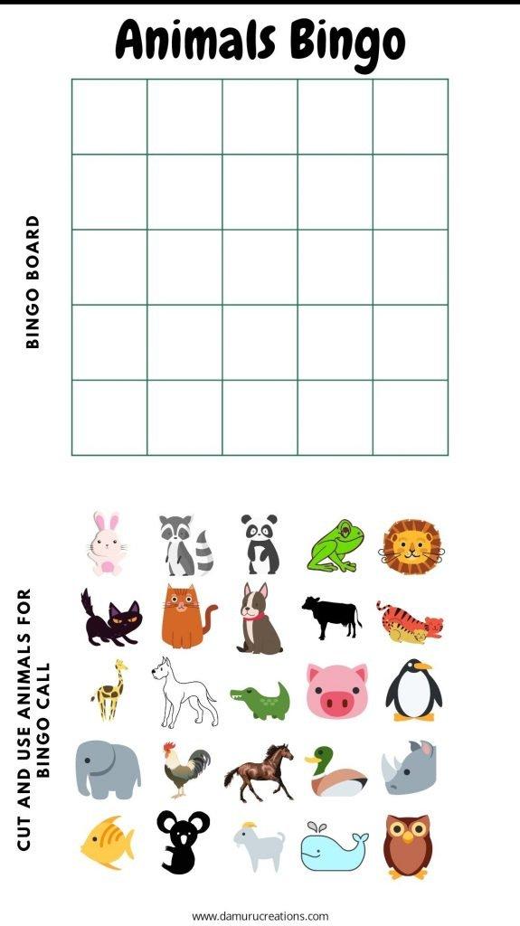 Animal Bingo by Damuru Creations