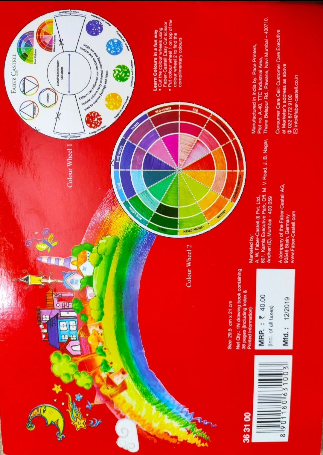 Color wheel, warm colors, cool colors