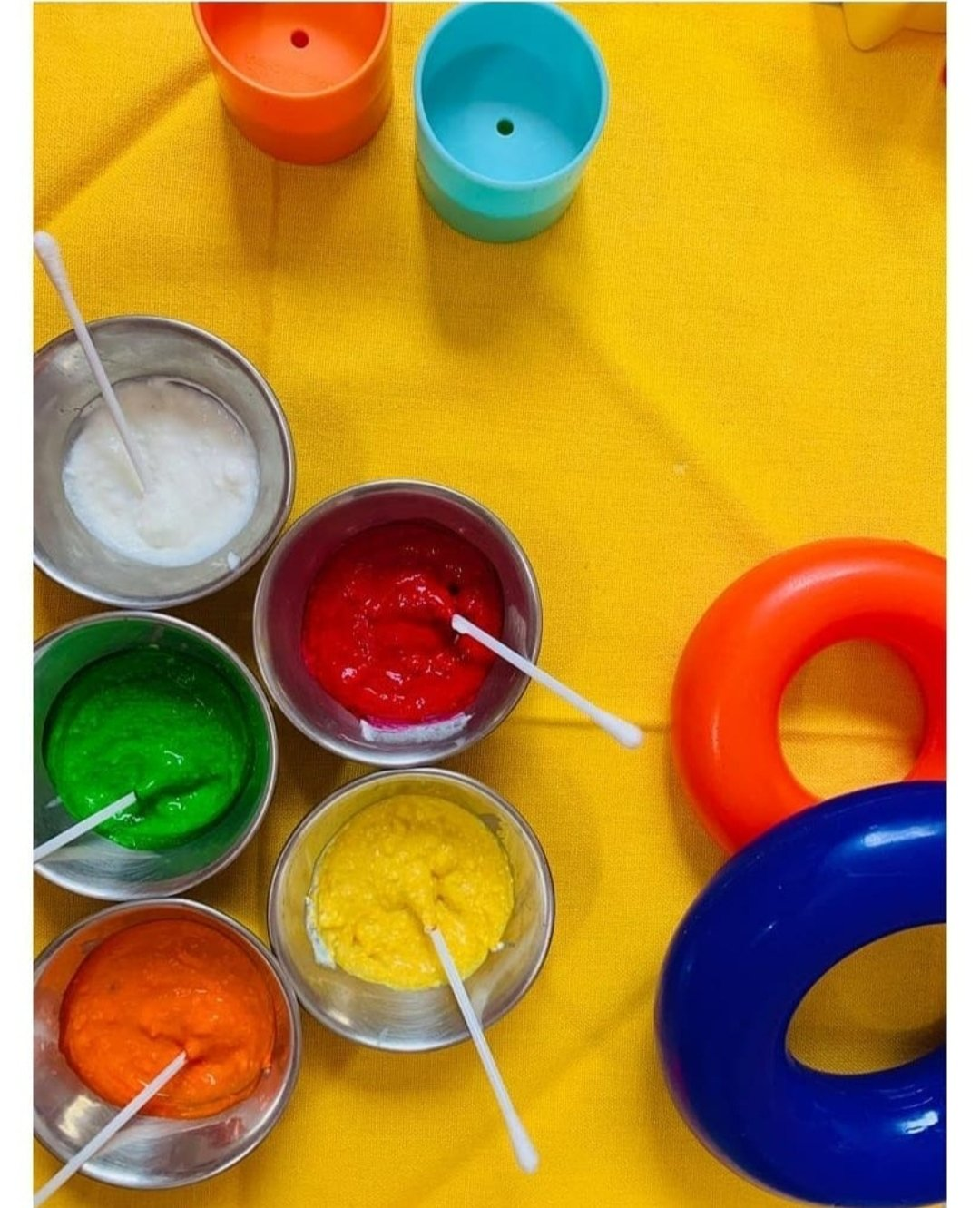 Non-toxic edible finger paints