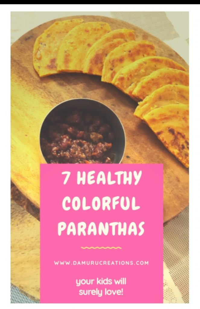 7 healthy yummy colourful paranthas