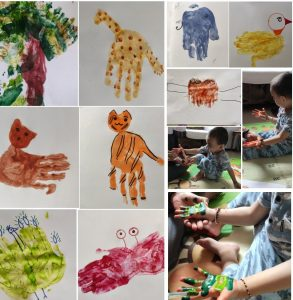 Easy Hand painting for toddlers and kids